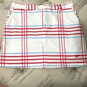 Roxy White with red/blue stripes size 5